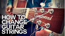 How To Change Acoustic Guitar Strings Guitar Basics