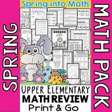 spring math worksheets 4th grade spring math review activities tpt