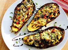 proud italian cook stuffed eggplant with ricotta spinach