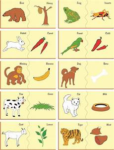 worksheets with animals and their food 14086 kinder creative wooden painted puzzle animal and their food wooden painted puzzle animal
