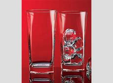 Square Highball Drinking Glass   Set of Four