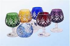 servizio bicchieri cristallo di boemia luxury colored glasses for cognac and