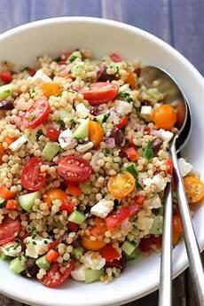 Rezept Couscous Salat - israeli couscous salad with feta