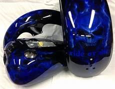 cobalt fire motorcycle tins harley airbrush paint candy clear coat custom ebay