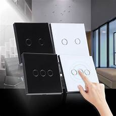 new tempered glass panel smart home touch wall light switch 110 240v 2 3 sg ebay