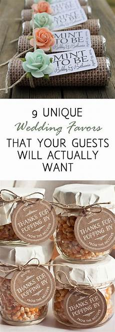 9 unique wedding favors that your guests will actually