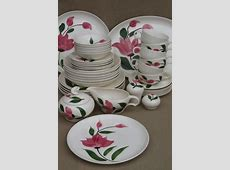 vintage Stetson Rio pottery dinnerware set for 6, red