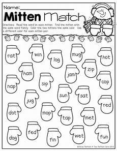 winter phonics worksheets for kindergarten 20143 winter math and literacy packet kindergarten with images teaching kindergarten word