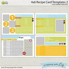 recipe card template 4x6 digital scrapbook templates 4x6 recipe card 2