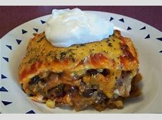 layered mexican casserole with tortillas