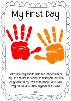 11 hands on activity ideas for early childhood special my first day handprint poem updated 2017 home