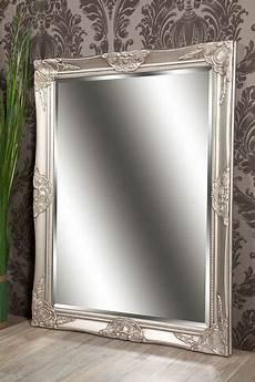 spiegel wandspiegel celia silber barock 70 x 90 cm