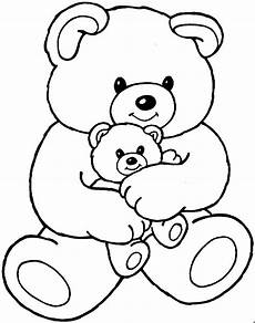 teddy mit baby ausmalbild malvorlage kinder