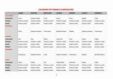 alimentazione settimanale calendario settimanale alimentazione marco masoero
