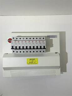 wylex amendment 3 metal clad 10 way hi dual rcd 17th edition consumer unit mcbs ebay