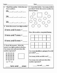 55 first grade common core math worksheets by kathryn