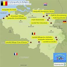 Stepmap Ferienparks Belgien Landkarte F 252 R Belgien