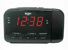 Time Projection Dual Alarm Timing Date by Bush Dual Alarm Clock Radio With Time Projection Buzzer