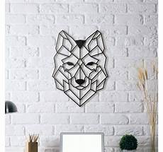 tableau mural metal metal wall decoration wolf artwall and co