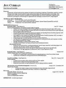 electrical engineer resume format in word free download