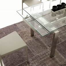 tavolo vetro tavolo allungabile in vetro trasparente 140x80 cm damian