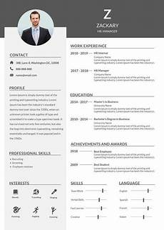 free hr manager resume cv template in photoshop psd microsoft word creativebooster