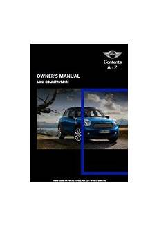 service repair manual free download 2011 mini countryman windshield wipe control mini manuals library of motoring an online collection of mini information