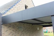 toit plat en tole finition bandeau lisse en t 244 le aluminium pour ce carport