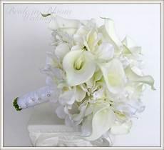 brides wedding bouquet white calla lily bridal bouquet