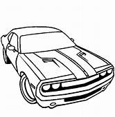 Dodge Car Challenger Coloring Pages  Sky