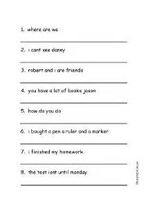 punctuation worksheets for grade 1 with answers 20770 1000 images about punctuation worksheet on words student and the o jays