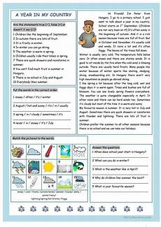 weather reading comprehension worksheets 14512 a year in my country weather worksheet free esl printable worksheets made by teachers