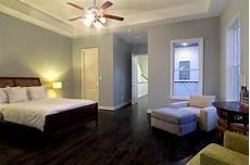 bedroom paint colors with dark floors dark wood floor soft greyblue walls floor color