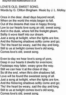 old time song lyrics for 61 old sweet song