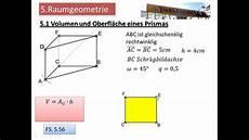 5 1 volumen und oberfl 228 che eines prismas
