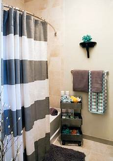 College Apartment Bathroom Ideas by Remarkable Ways To Inspire With Striped Curtains Home