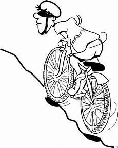 mountainbiker ausmalbild malvorlage comics