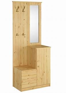 garderobe mit spiegel 90 80 12 garderobe mit spiegel kiefer massiv flurm 246 bel