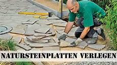 Platten Verlegen Garten Natursteinplatten Verlegen