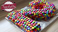 Torten Für Kindergeburtstag Zum Selbermachen - smarties torte als zahlentorte selber machen anleitung