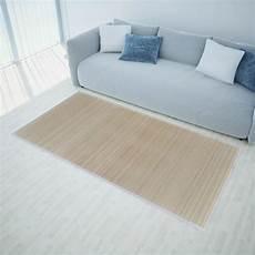 tapis de passage pas cher acheter tapis en bambou naturel 224 latte rectangulaire 150