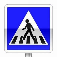 passage du code de la route panneau indication passage pieton chauffage air puls 233