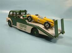 bedford cing car bedford transporter race car load code 3 roland ward dinky toys the eras