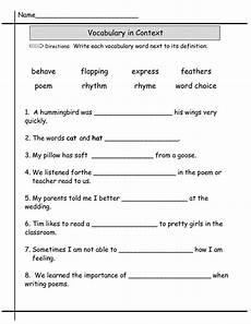 second grade worksheets 2nd grade worksheets vocabulary
