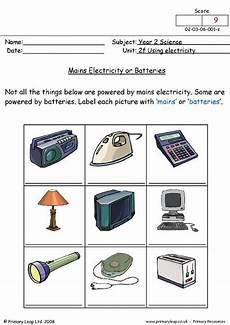 primaryleap co uk mains electricity or batteries worksheet electricity 2nd grade