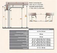 hauteur porte de garage sectionnelle lev 233 e haute lh 171 portes de garages habitat et industrie