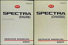 vehicle repair manual 2002 kia spectra auto manual 2004 kia spectra repair shop manual original 2 vol set
