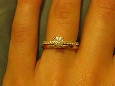 show me your sparkly engagement ring w plain wedding band engagement bands wedding bands