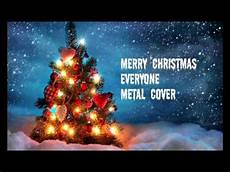 merry christmas everyone metal cover youtube