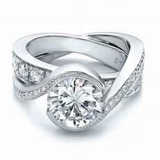 custom wedding rings custom interlocking diamond